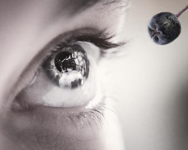 Öga och aroniabär - aronia skyddar ögat mot inflammation.